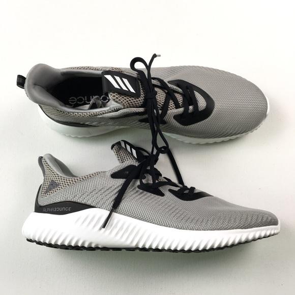 BW0540 Grey//White Running Sneaker Mens ADIDAS ALPHABOUNCE 1
